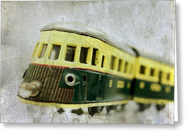 Old Toy-train Greeting Card