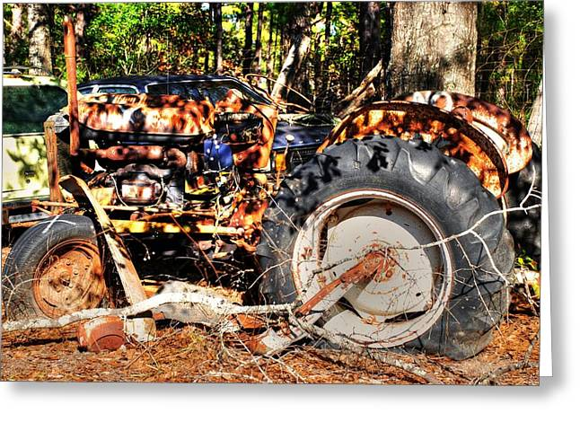 Old Tractor 01 Greeting Card by Andy Savelle