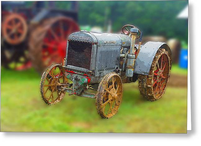 Greeting Card featuring the photograph Old Tractor Print by B Wayne Mullins