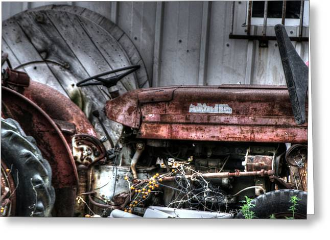 Old Tractor - Series Xiv Greeting Card