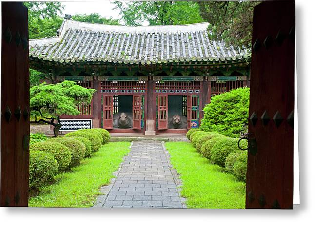 Old Traditional Temple In Kaesong Greeting Card