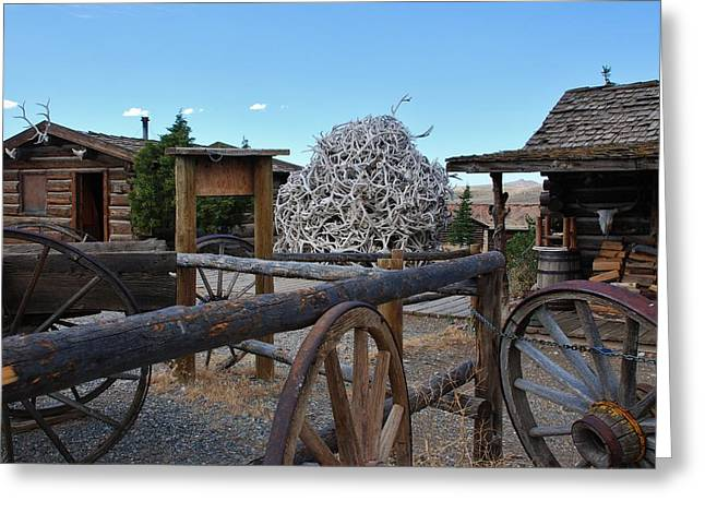 Old Trail Town -  Wyoming Greeting Card by Dany Lison