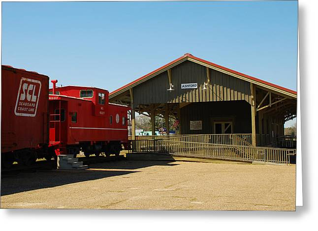 Old Train Depot 06 Greeting Card by Andy Savelle