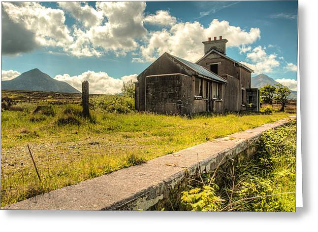 Old Train Station Greeting Card by Craig Brown
