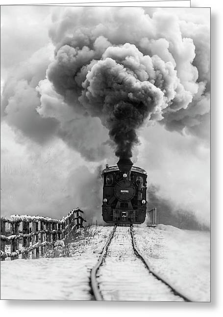 Old Train Greeting Card