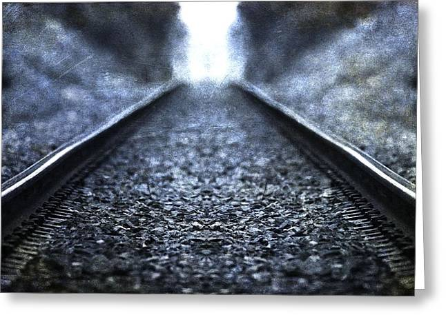 Old Train Tracks Greeting Card by Dan Sproul