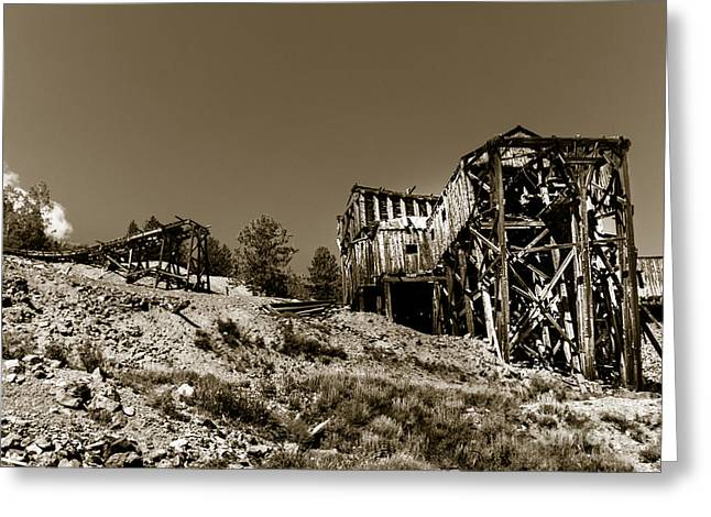 Old Tramway Headhouse Greeting Card