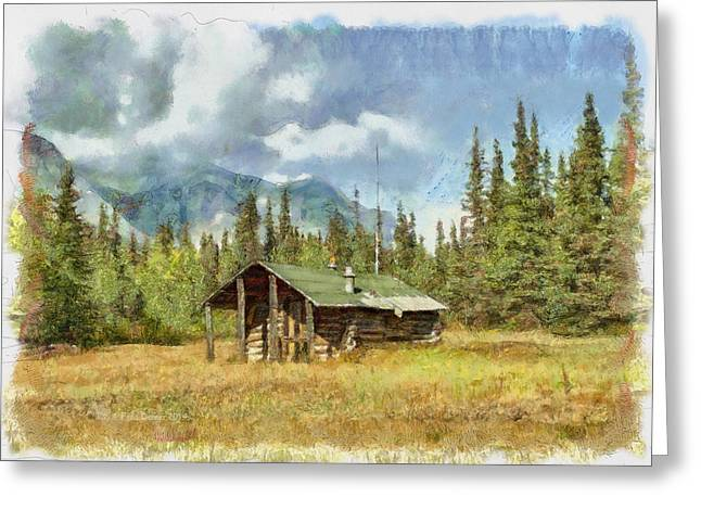 Old Trappers Cabin Greeting Card