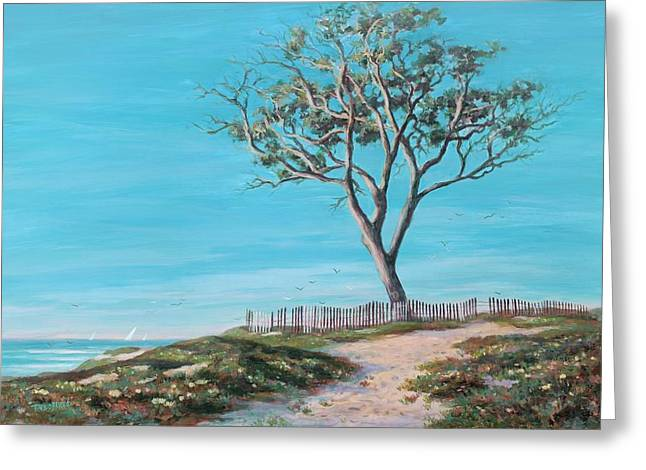 Old Tree In Carpenteria Greeting Card by Tina Obrien