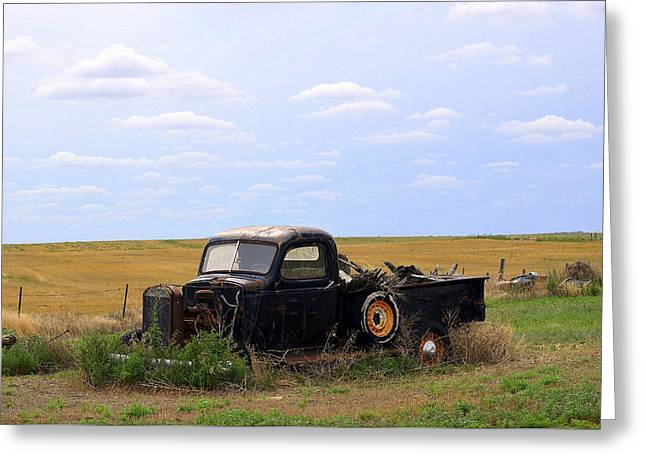 Old Truck  Greeting Card by Clarice  Lakota