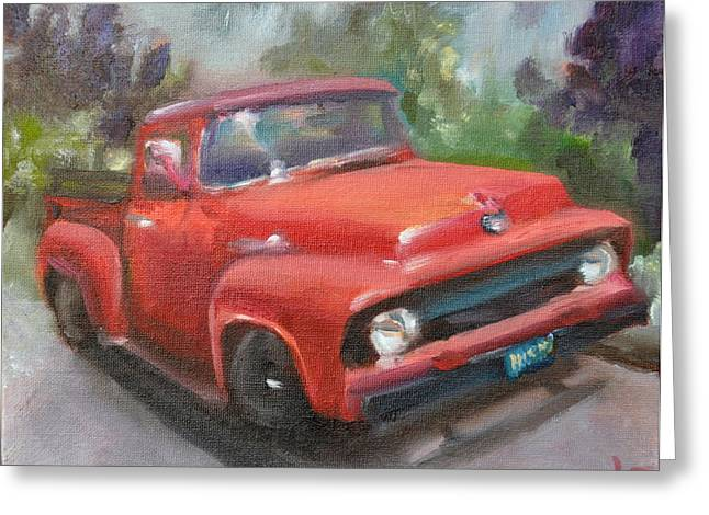 Old Truck Greeting Card by Lindsay Frost