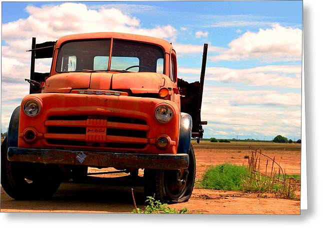 Old Truck Greeting Card by Matt Harang