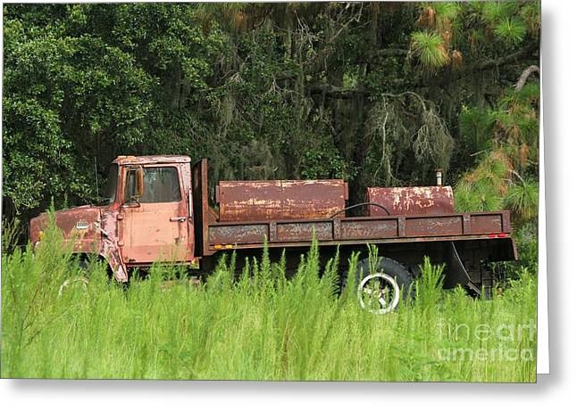 Old Truck Greeting Card by Theresa Willingham