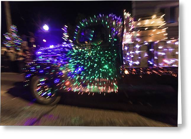 Old Truck With Christmas Lights Greeting Card by Garry Gay