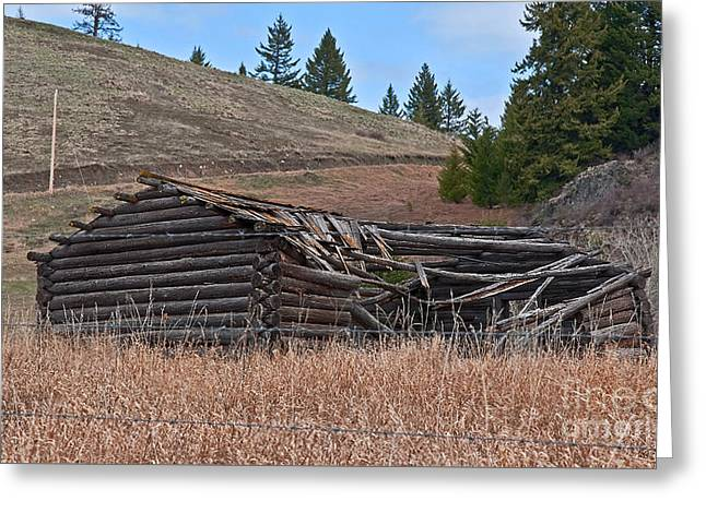 Greeting Card featuring the photograph Old Turn Of The Century Log Cabin Homestead Art Prints by Valerie Garner