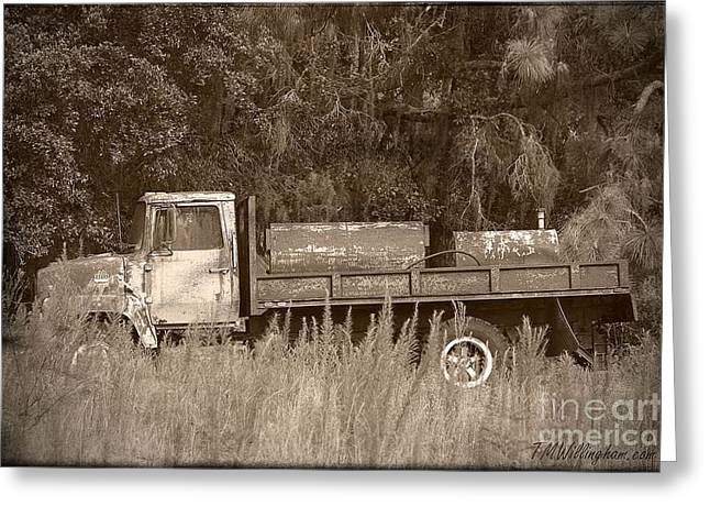 Old Tyme Truck Greeting Card by Theresa Willingham