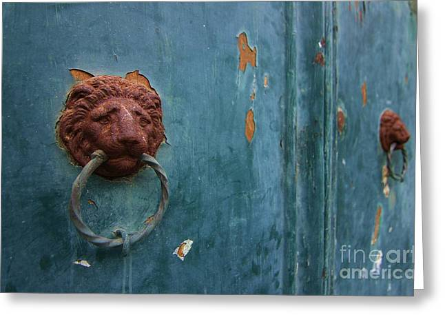 Old Venetian Door Knocker Greeting Card