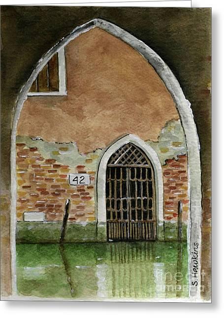 Old Venetian Doorway Greeting Card
