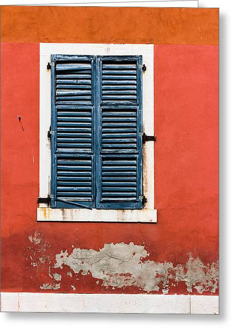 Old Venetian Window Greeting Card