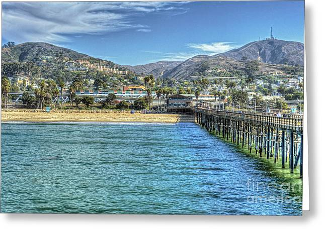 Old Ventura City From The Pier Greeting Card