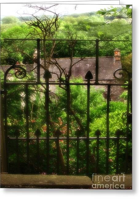 Old Victorian Gate - Peak District - England Greeting Card by Doc Braham