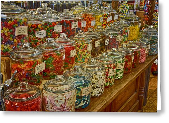 Old Village Mercantile Caledonia Mo Candy Jars Dsc04014 Greeting Card