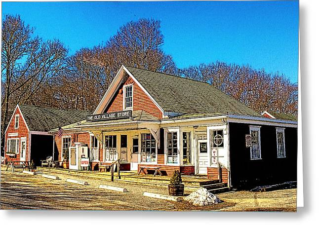 Old Village Store Greeting Card by Constantine Gregory
