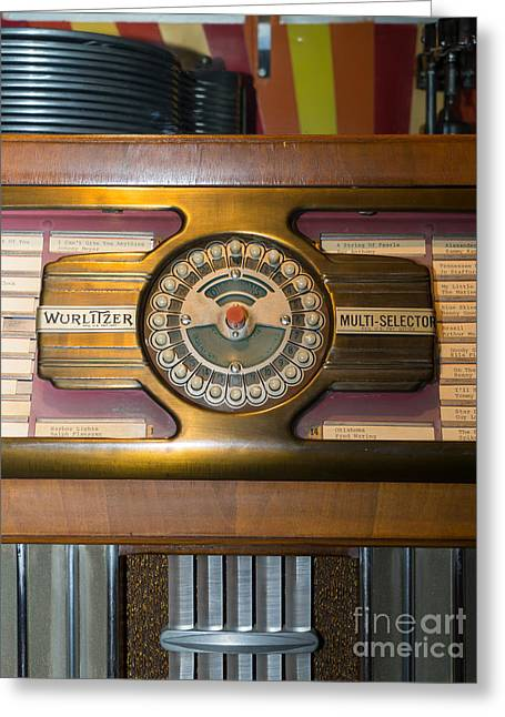 Old Vintage Wurlitzer Jukebox Dsc2811 Greeting Card by Wingsdomain Art and Photography