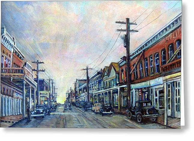 Old Virginia City Greeting Card by Donna Tucker