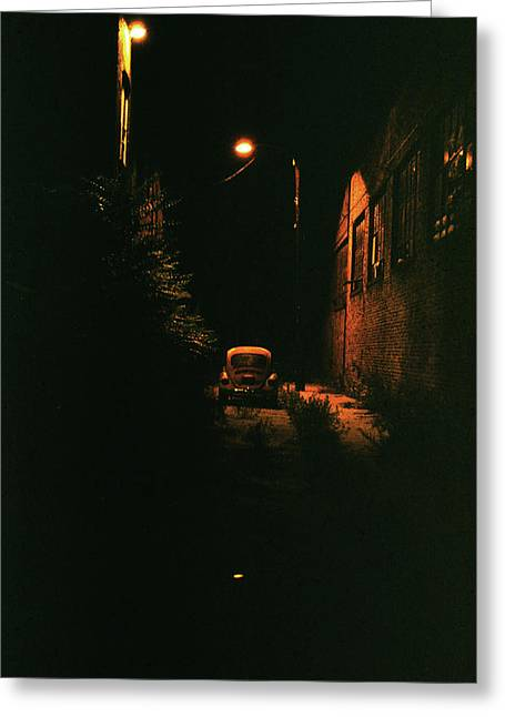 Old Vw Left All Alone   Greeting Card by Hector  Valentin