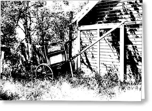 Old Wagon And Shed Greeting Card by Donald  Erickson
