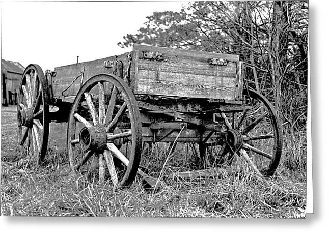 Old Wagon Greeting Card by Mike Flynn