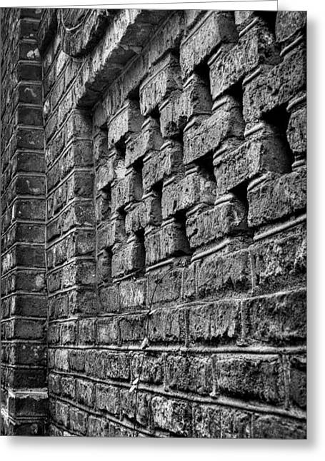 Old Wall Architectural Detail Greeting Card by Andrew Crispi