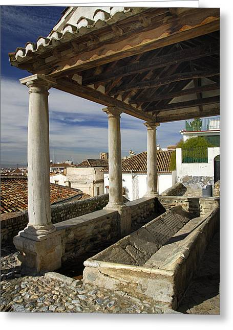 Old Washing In Granada Greeting Card