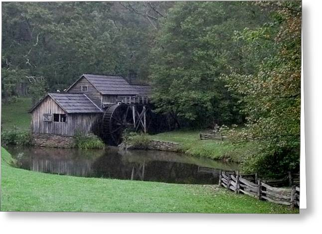 Old Water Mill Greeting Card