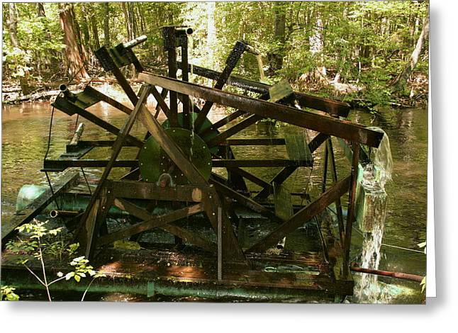 Greeting Card featuring the photograph Old Waterwheel by Cathy Harper