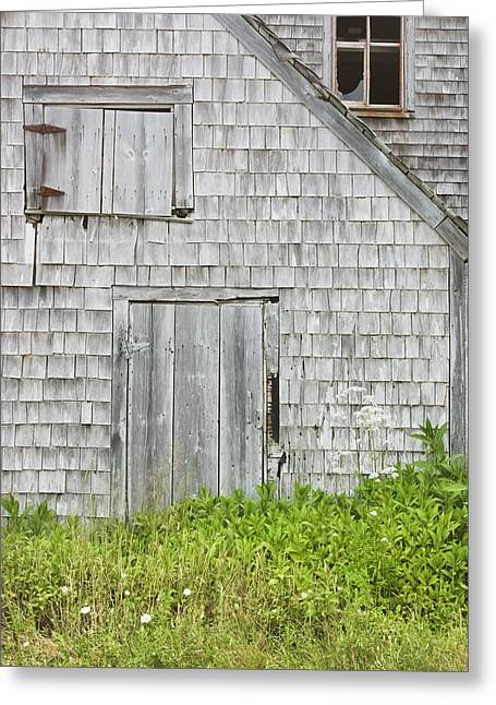 Old Weathered Building In Maine Greeting Card