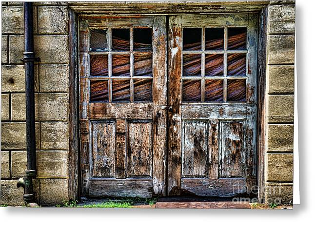 Old Weathered Doors Greeting Card by Paul Ward
