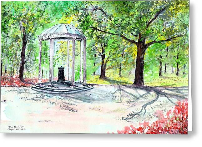 Old Well Chapel Hill Greeting Card