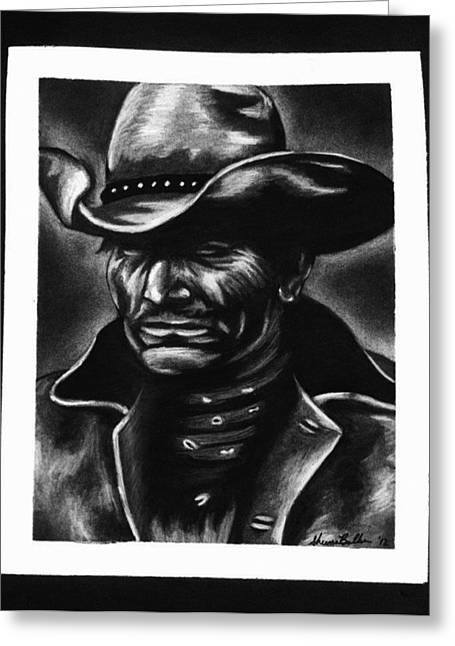 Old West Cowboy Greeting Card by Sheena Pape