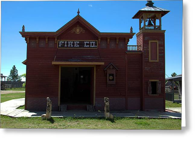 Old West Fire Station Greeting Card