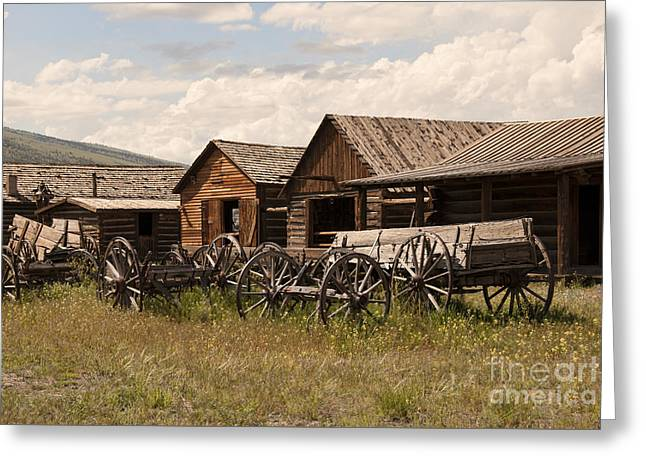 Old West Wyoming  Greeting Card by Juli Scalzi