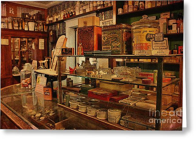 Old Western General Store Counter Greeting Card by Janice Rae Pariza
