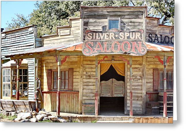 Old Western Saloon Greeting Card