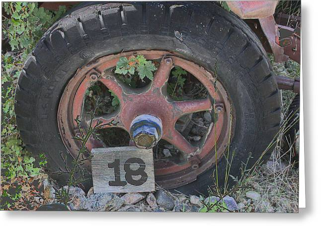 Greeting Card featuring the photograph Old Wheel by David Armstrong