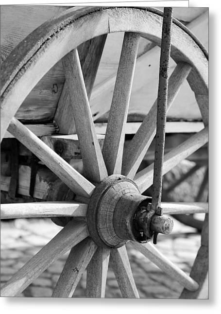 Old Wheel Greeting Card by Falko Follert
