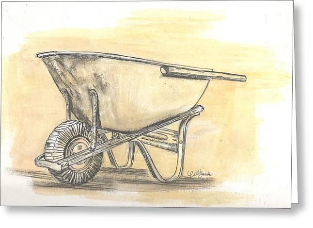 Old Wheelbarrow Greeting Card by Callie Smith