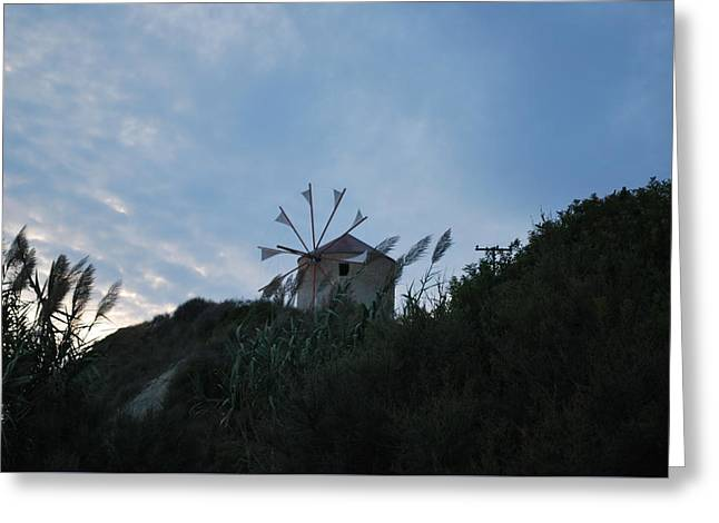 Old Wind Mill 1830 Greeting Card by George Katechis