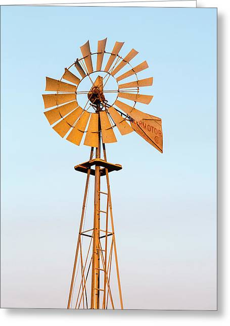 Old Windmill At Sunset Near New Greeting Card