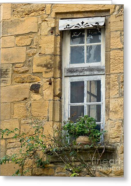 Greeting Card featuring the photograph Old Window In France by Paul Topp